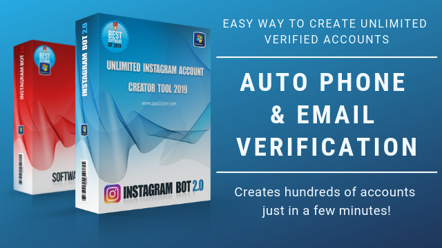 Instagram Accounts creator bot | WebBots 100% Working tool
